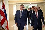 Президент Армении Серж Саргсян и премьер-министр Грузии Георгий Квирикашвили