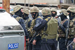 Спецназ во время антитеррористической операции в столице Грузии