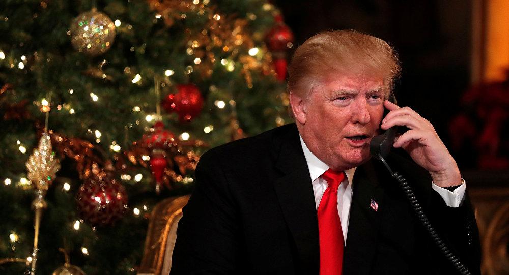Президент США Дональд Трамп у рождественской елки