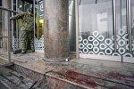 Последствия взрыва в магазине Перекресток в Санкт-Петербурге