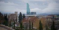 Вид на город Тбилиси с территории парка Рике