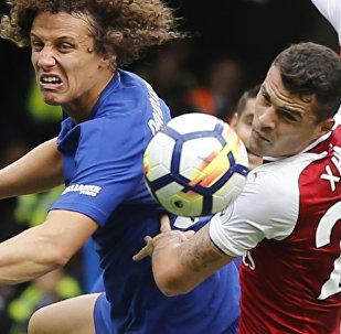 Матч между клубами Челси и Арсенал в рамках Чемпионата Англии по футболу