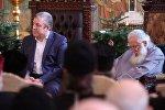 Премьер-министр Грузии Георгий Квирикашвили и Католикос-Патриарх Всея Грузии Илия Второй