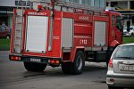 Пожарная машина направляется по вызову