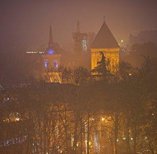 Собор Сиони в тумане