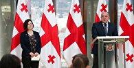 Президент Грузии Георгий Маргвелавшили и парламентский секретарь Анна Нацвлишвили
