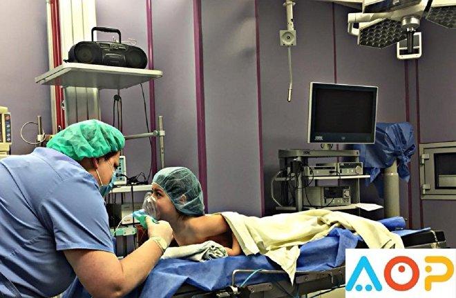 Пациентка Георгия Бочоришвили в операционной