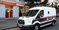 Машина охранной полиции сервис-центра Банка Грузии