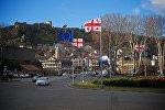 Площадь Европы в центре Тбилиси
