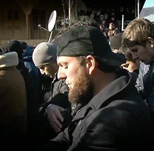 Похороны убитого в ходе спецоперации кистинца в селе Дуиси в Панкисском ущелье