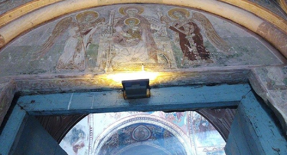 Фреска апсиды Гелатского монастыря
