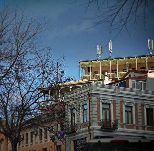 Зимнее небо над Тбилиси