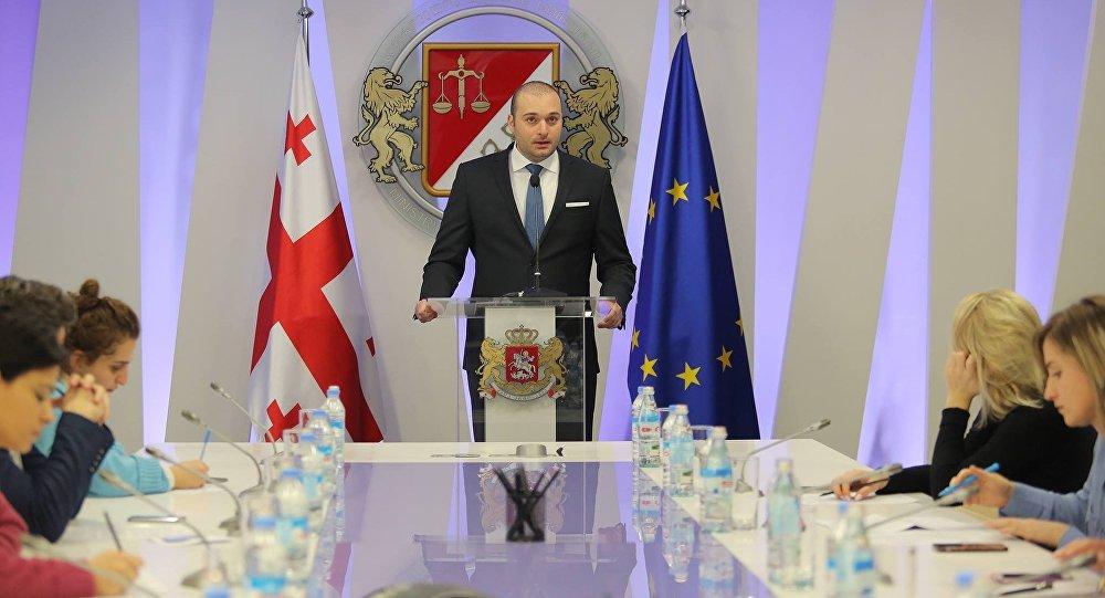 Брифинг министра финансов Грузии Мамуки Бахтадзе