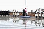 Церемония поднятия эталонного образца государственного флага Грузии