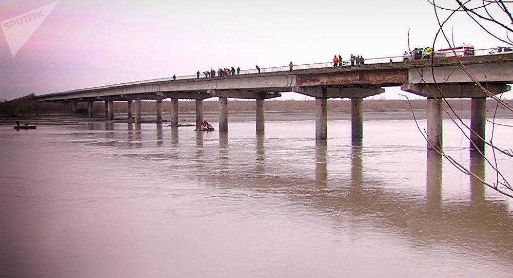 Поисково - спасательная операция на реке Риони в Абашском районе
