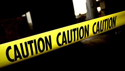 Желтая лента на месте преступления в США