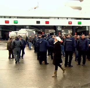 В Сарпи прошла акция протеста