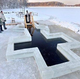 Празднование Крещения в Минской области