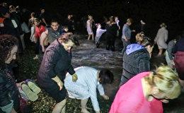 19 იანვრის ღამეს ბათუმში ნათლისღებასთან დაკავშირებით ზღვაში საყოველთაო განბანვა გაიმართა