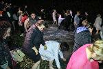 В Батуми состоялось массовое купание людей в море в связи с праздником Крещения Господня