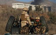 ავღანეთის უსაფრთხოების ძალების წარმომადგენლები ქაბულში