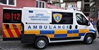 Машина скорой помощи города Батуми на выезде