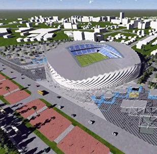 Закладка нового футбольного стадиона