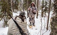Охотники во время охоты