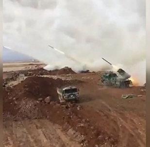 Ракетный обстрел Турцией позиций сирийских курдов в Африне