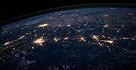 Ночная Земля: вид на поверхность планеты из космоса