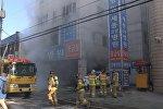Пожар в больнице в Южной Корее: кадры с места ЧП