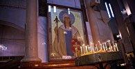 Икона Святой Нино в храме Святой Троицы Самеба