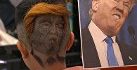 Портреты Трампа и Путина на затылках: необычные работы парикмахера