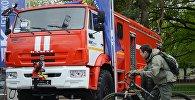 Новый аэродромный пожарный автомобиль на VIII Международном салоне Комплексная безопасность-2015 в Москве