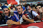 Фанаты сборной Франции на стадионе
