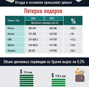 Сколько и откуда присылают деньги в Грузию