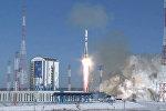 Кадры запуска ракеты Союз-2.1а с 11 спутниками