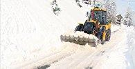 Сильный снегопад в высокогорье Аджарии