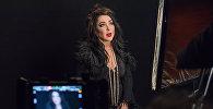 Лолита Милявская во время съемок клипа на песню Раневская