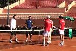 Теннис. Матч на Кубок Дэвиса между сборными Грузии и Марокко