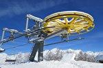 Канатная дорога на горнолыжном курорте в Сванетии
