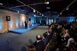 Вице-премьер, министр экономики и устойчивого развития Дмитрий Кумсишвили на презентации портала maleo.ge