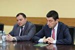 Глава МВД Грузии Георгий Гахария и глава Погранполиции Темура Кекелидзе