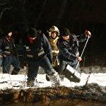 Поисково-спасательная операция по розыску тел погибших на месте катастрофы завершилась в ночь на понедельник
