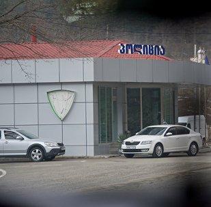 Здание полиции на центральной автотрассе в Восточной Грузии