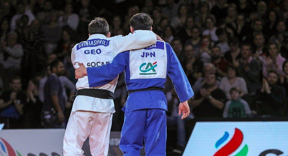 Дзюдо, Гран-при Парижа, Бека Гвиниашвили из Грузии и японец Шоичиро Мукай