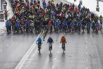 Участники третьего зимнего московского велопарада