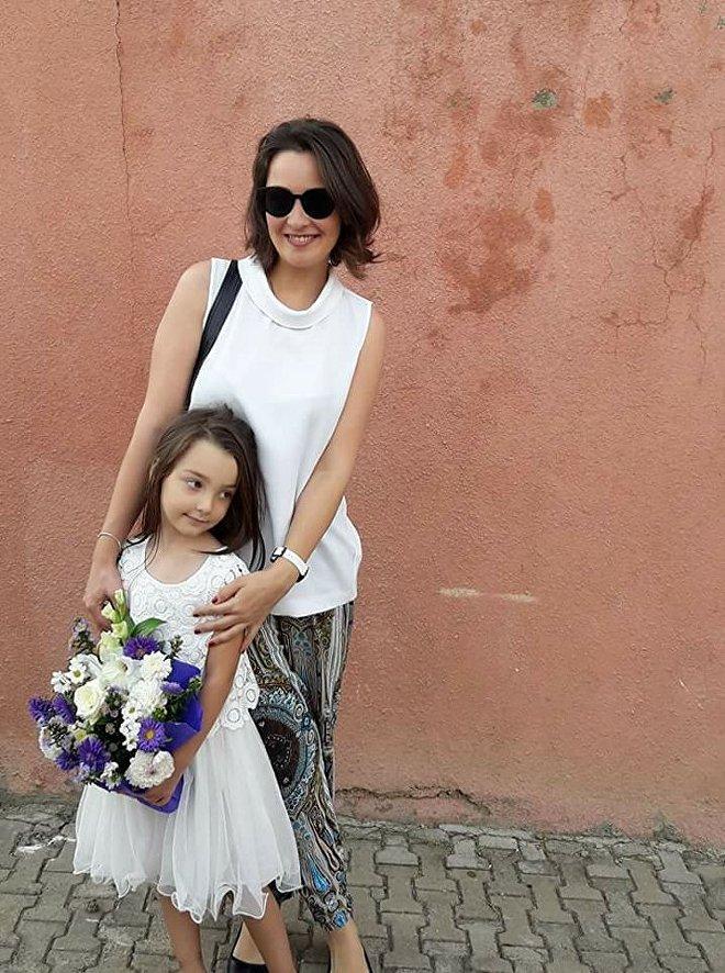 მაკო იოსელიანი ქალიშვილთან ერთად