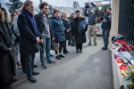 Траурная акция в память о погибших в результате крушения самолета Ан-148