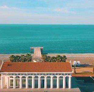 Вид на пляж Батуми